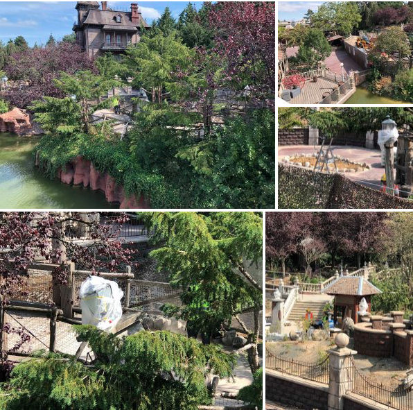 Travaux  Phantom Manor Disney