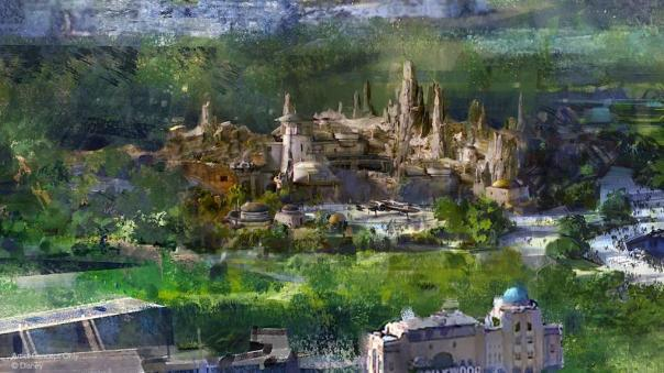 Concept art sur star wars land