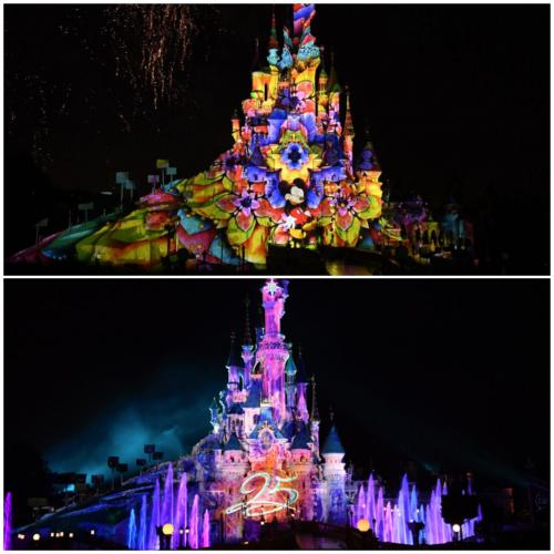 Disney illimunations 25 ans Disneyland Paris