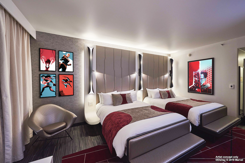 Hôtel Disney's New York - The Art of Marvel Concept Art Empire state club room