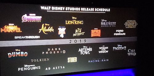 Line up 2019 walt disney studios
