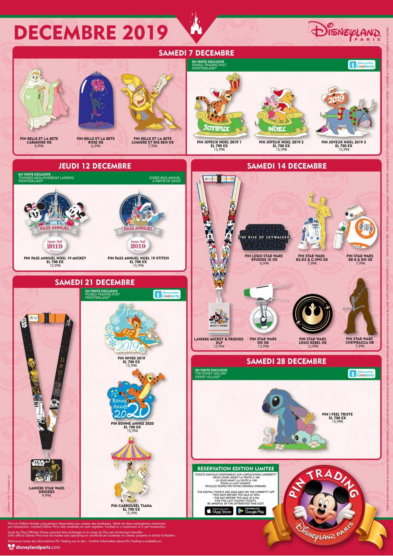 Pin tradding disneyland paris decembre 2019