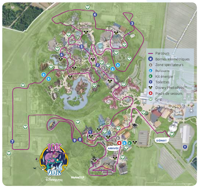 Plan disneyland paris 10km magicrun2018