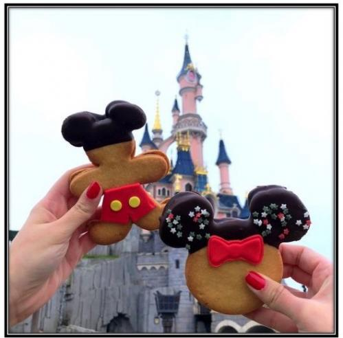 Upcake nutella vanille cookie ge ant nutella double sable mickey et minnie