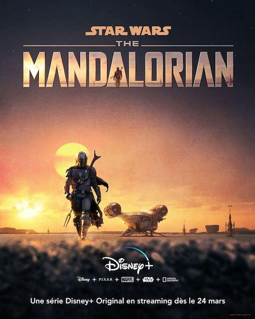 Affiche the mandalorian Disney plus