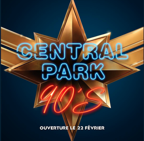 Affiche central park 90 s captain marvel