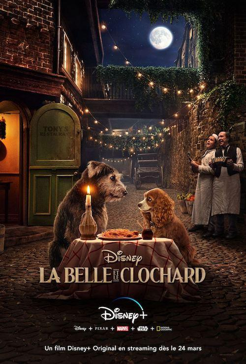 Affiche film belle et le clochard disney plus