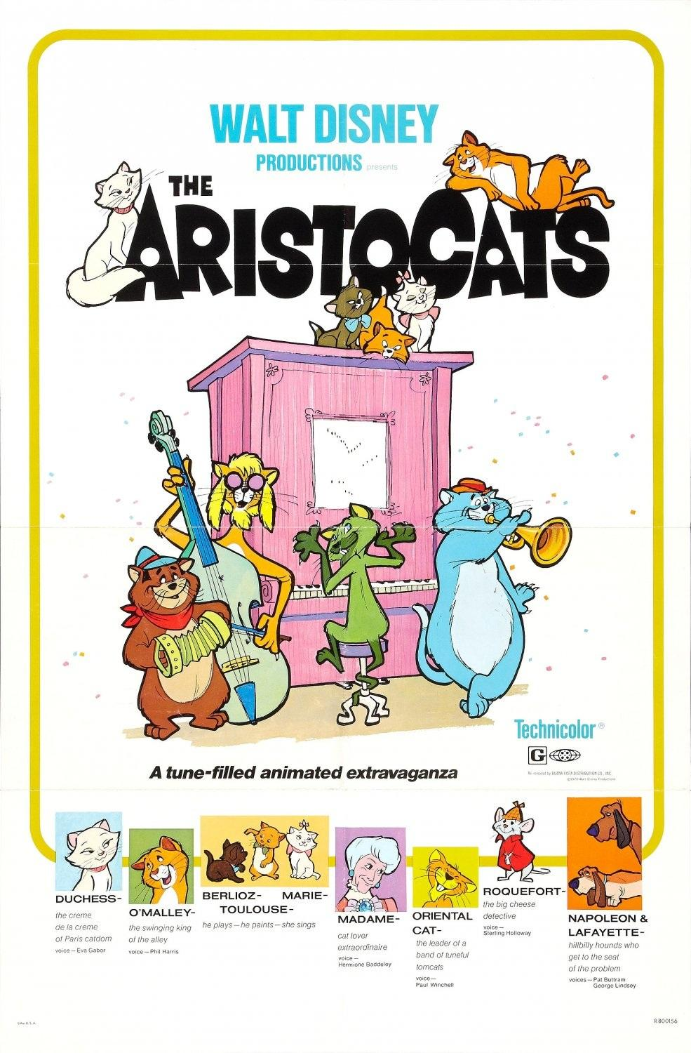 affiche Aristocats poster