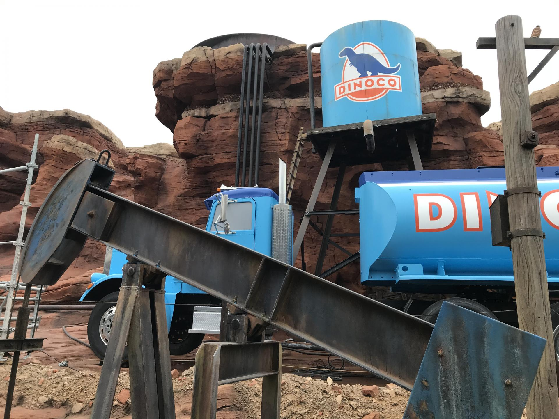 Cars route 66 road trip attraction dinoco truck Disney