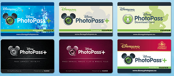 Différents PhotoPAss et PhotoPass + à Disneyland Paris
