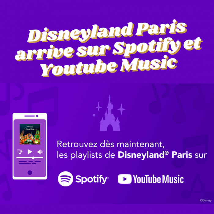 Disneyland paris spotify youtube music