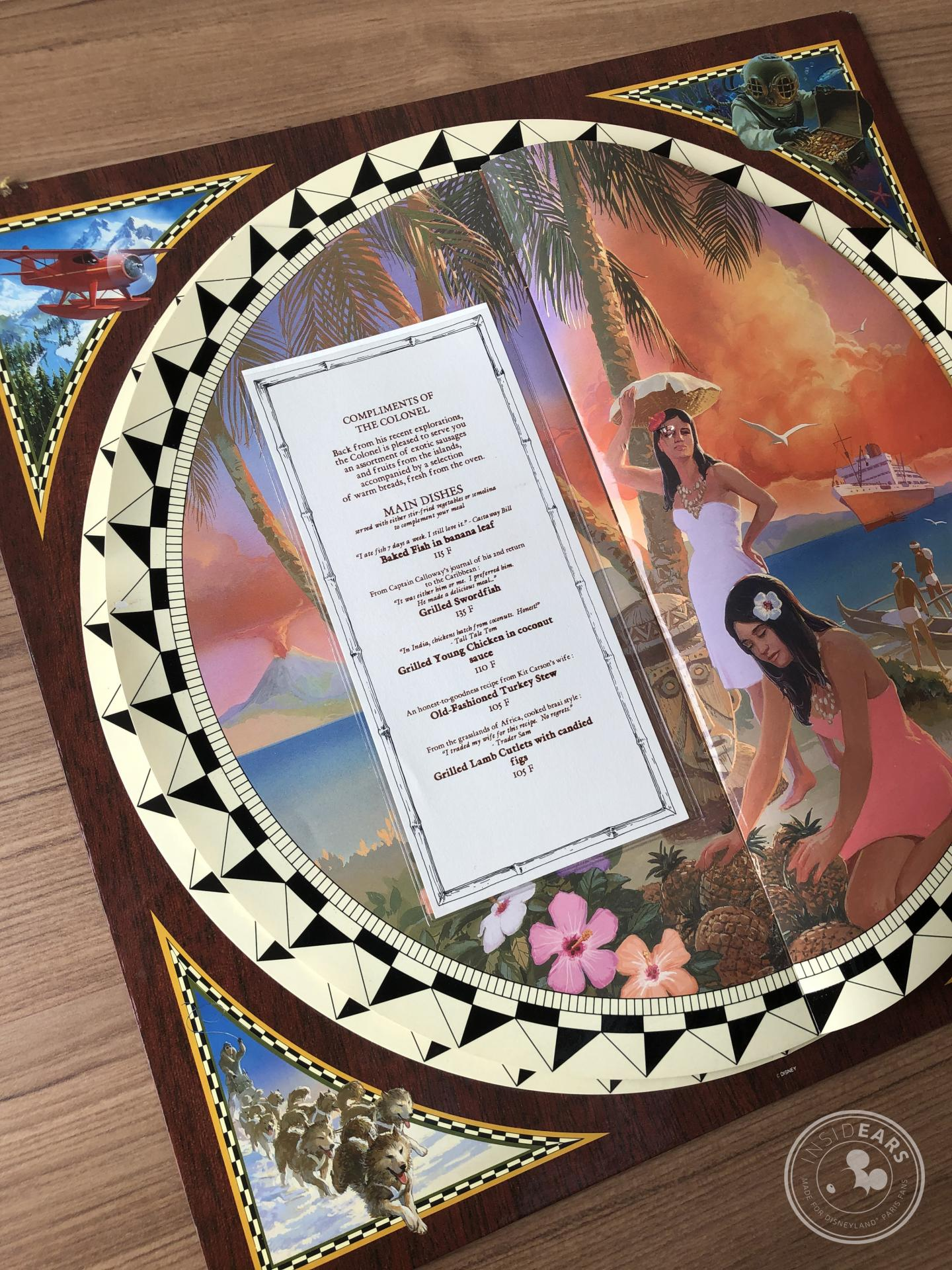 Anciens menus de restaurants disparus Disneyland Paris