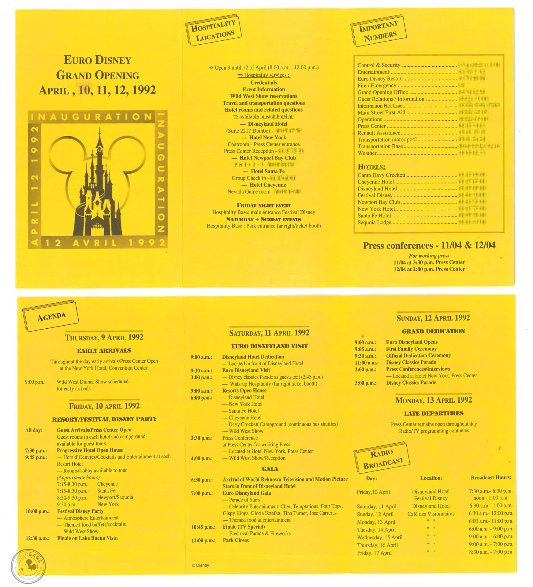 Grand Opening du 12 avril 1992 Disneyland ParisImg ashx 119
