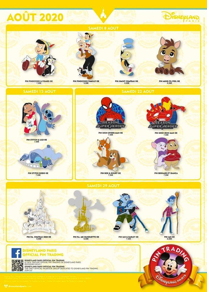 Pin Trading Disneyland Paris - aout 2020