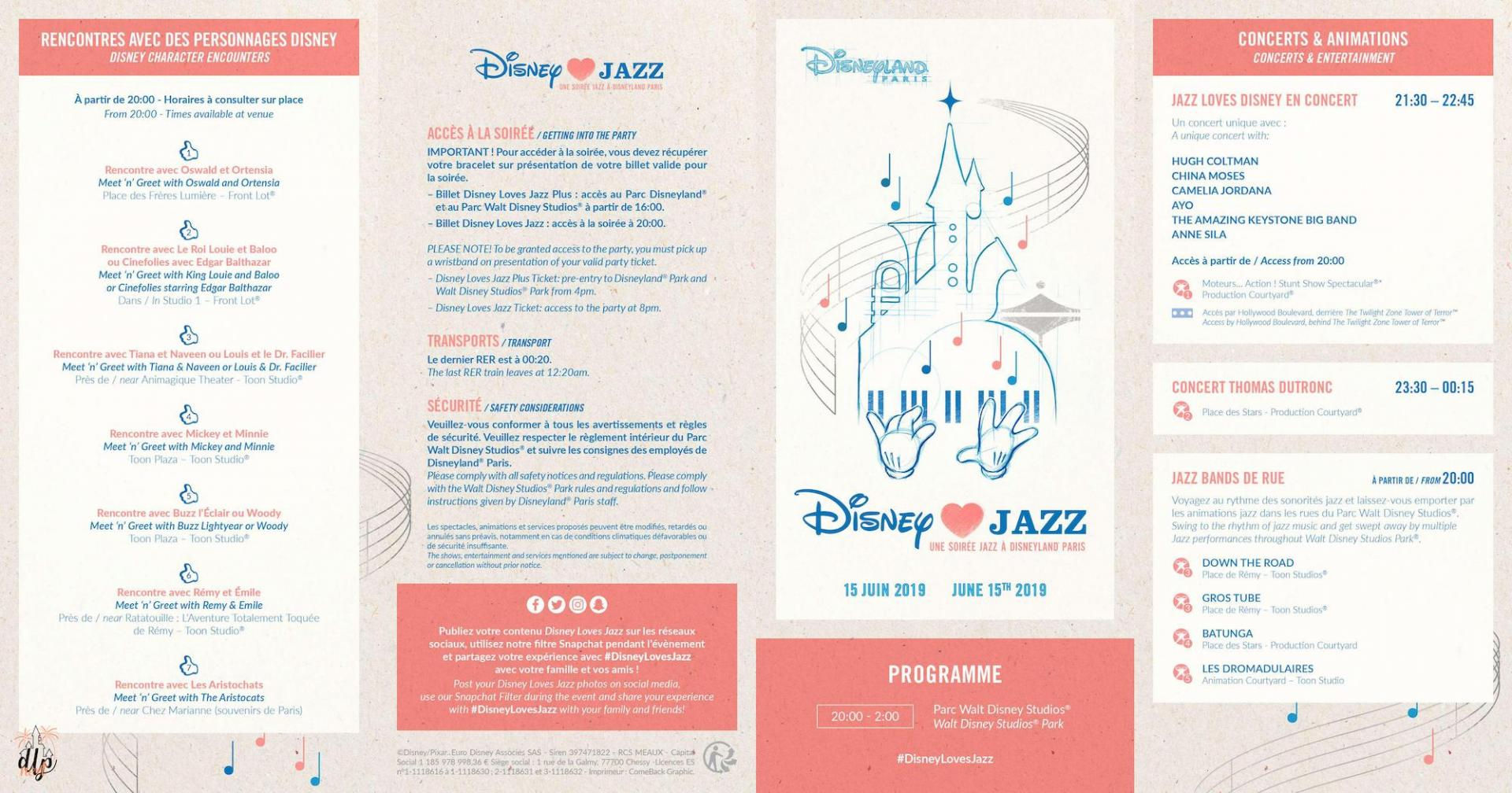 Programme disney love jazz 2019