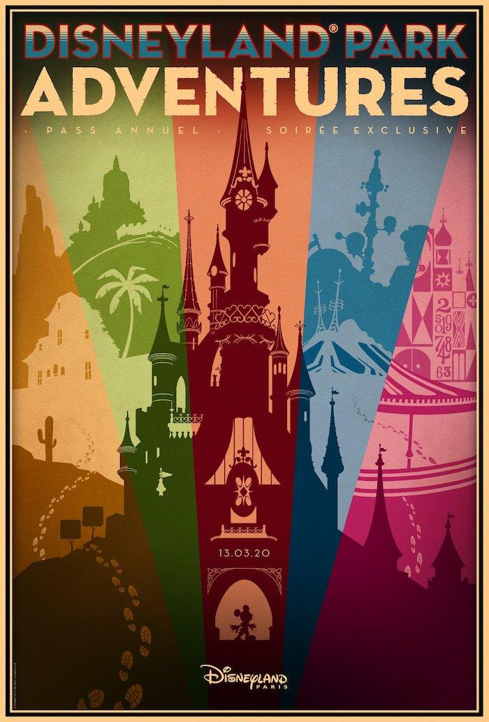 Soiree pass annuel disneyland parks adventures Mars 2020