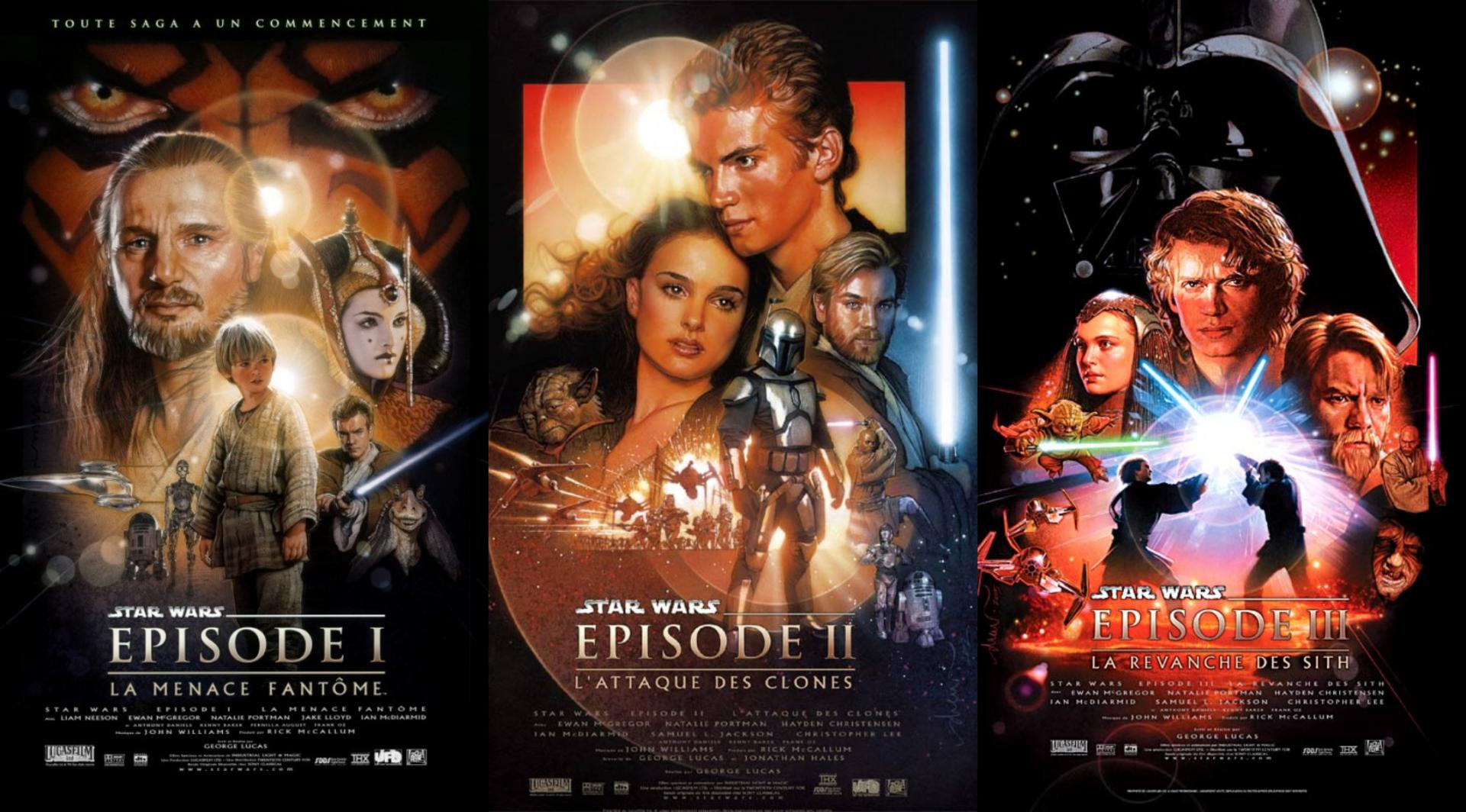 Star wars Disney plus - affiches I, II, III