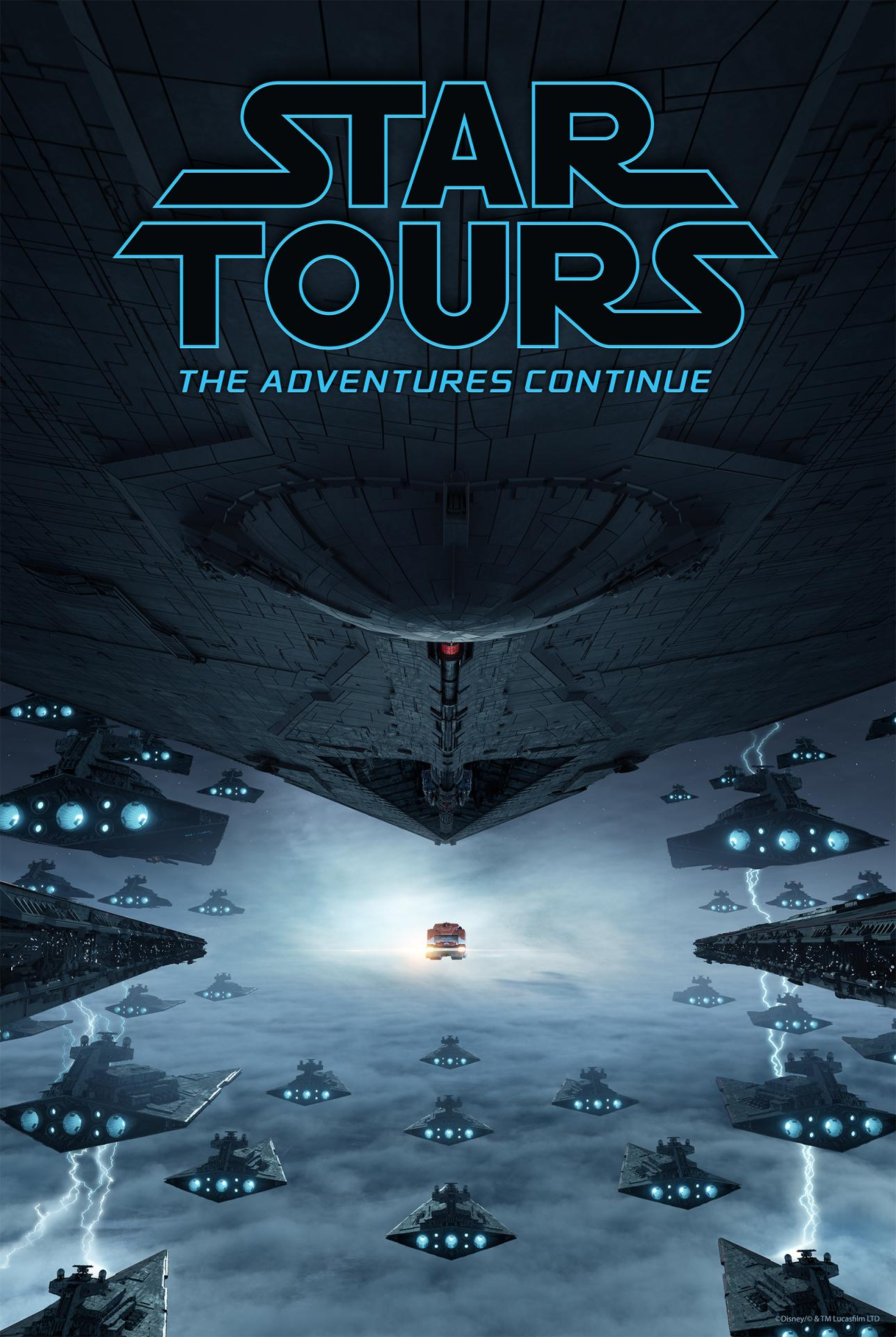 Poster Star Tours l'aventure continue Disneyland Paris